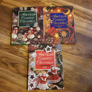 AMERICAN COUNTRY CHRISTMAS hardcover book …